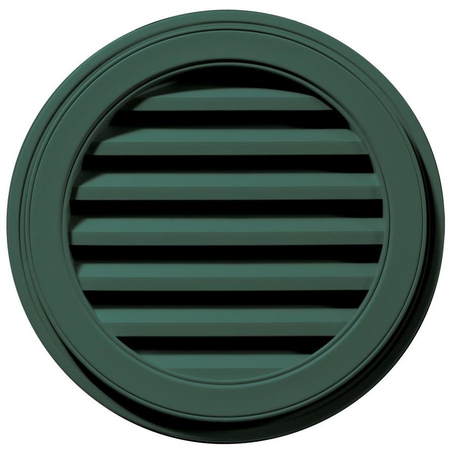 Builders Edge 22-in x 22-in Forest Green Round Vinyl Gable Vent
