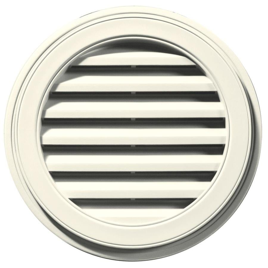 Builders Edge 22-in x 22-in Parchment Round Vinyl Gable Vent