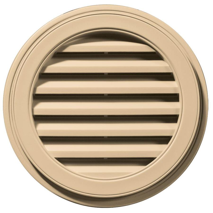 Builders Edge 22-in x 22-in Sandstone Maple Round Vinyl Gable Vent