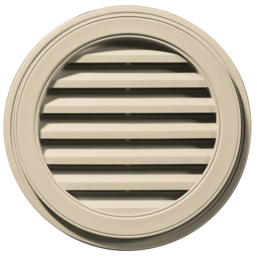 Builders Edge 22-in x 22-in Almond Round Vinyl Gable Vent