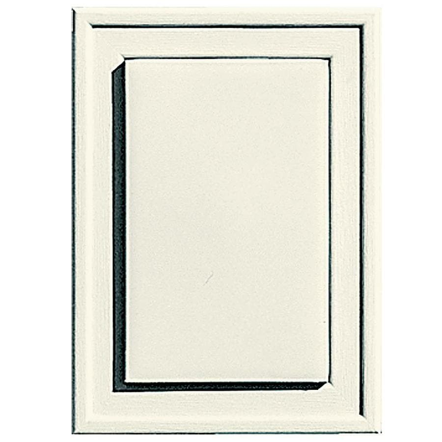 Builders Edge 4.5-in x 6.25-in Parchment Vinyl Universal Mounting Block