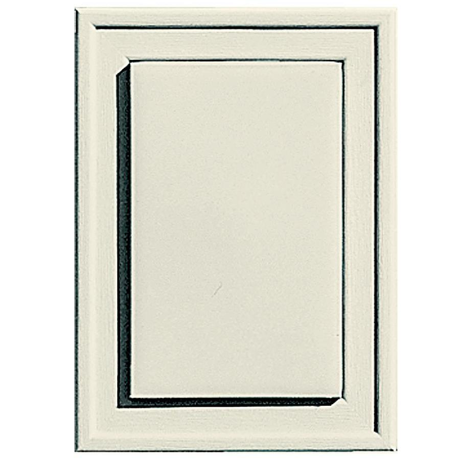 Builders Edge 4.5-in x 6.25-in Linen Vinyl Universal Mounting Block