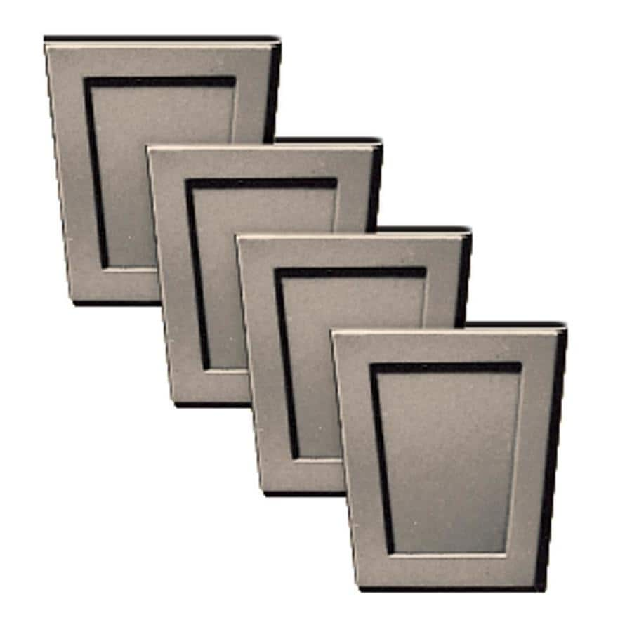Builders Edge 4-Pack 4-in x 4.5-in Clay Polypropylene Gable Vent Keystones