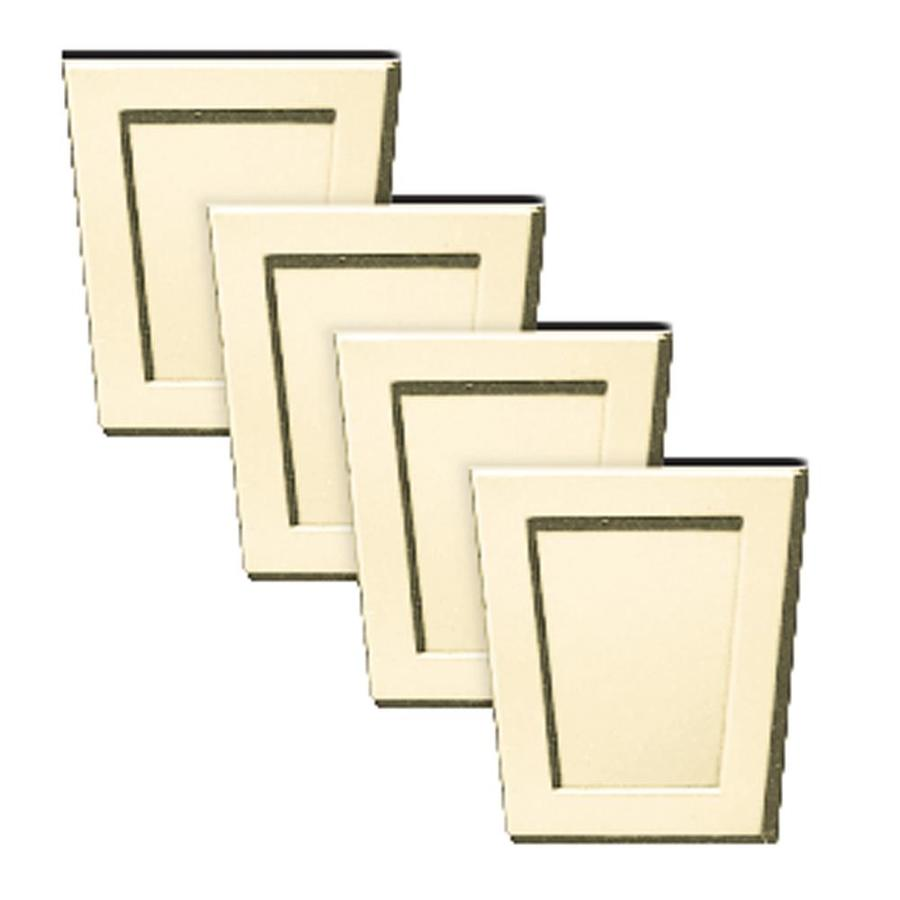 Builders Edge 4-Pack 4-in x 4.5-in Sandalwood Polypropylene Gable Vent Keystones