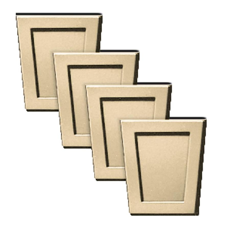 Builders Edge 4-Pack 4-in x 4.5-in Dark Almond Polypropylene Gable Vent Keystones