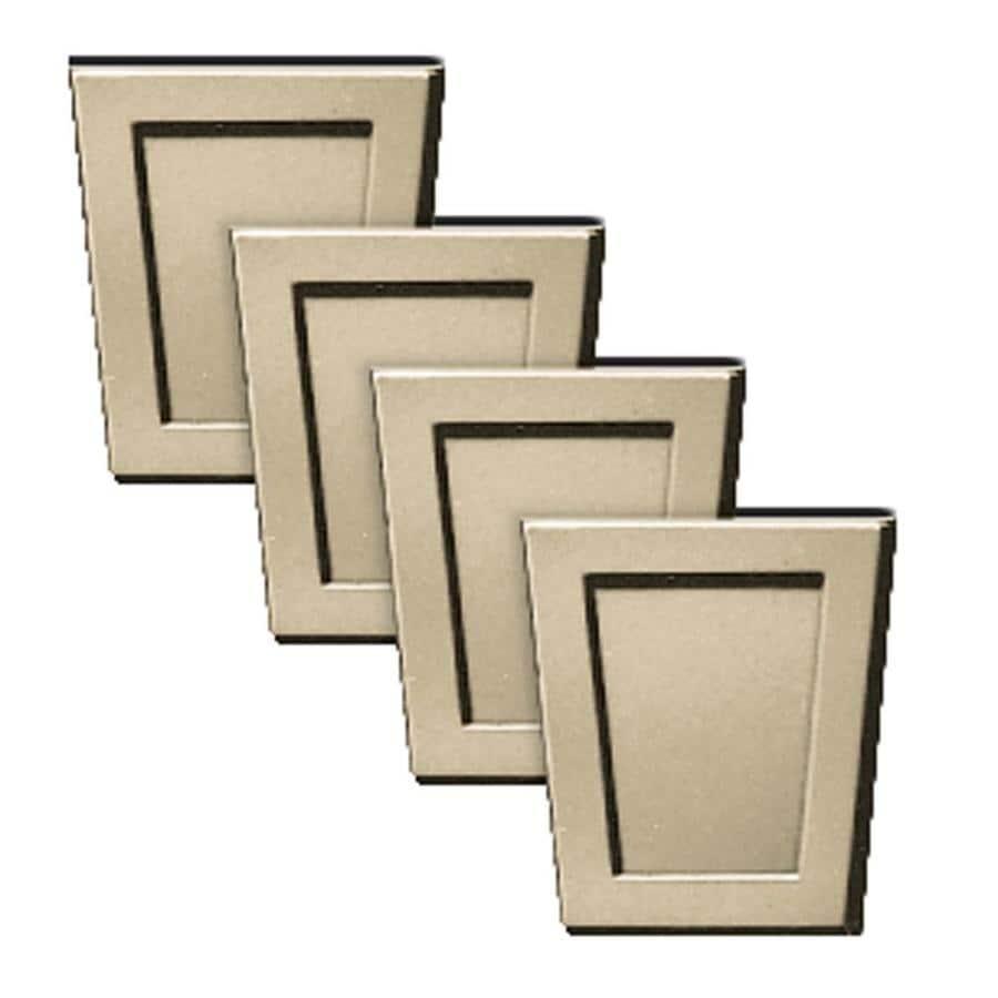 Builders Edge 4-Pack 4-in x 4.5-in Light Almond Polypropylene Gable Vent Keystones