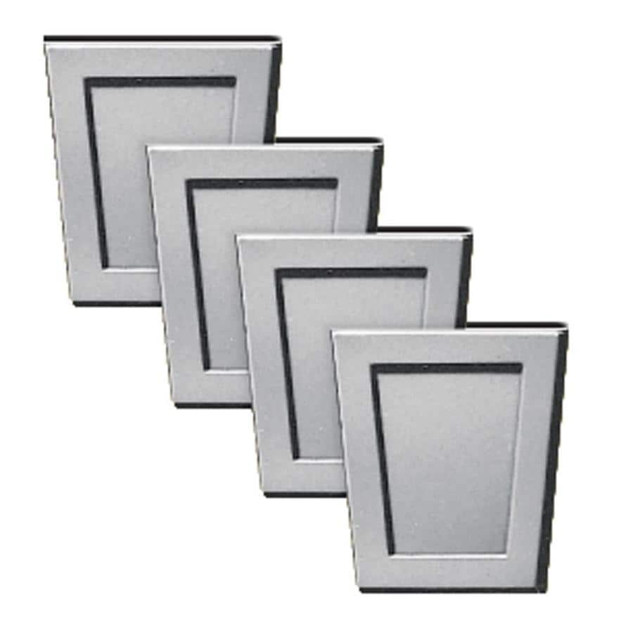 Builders Edge 4-Pack 4-in x 4.5-in Gray Polypropylene Gable Vent Keystones