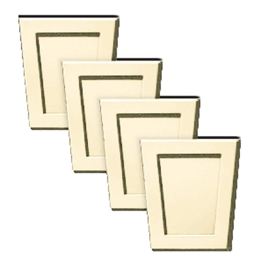 Builders Edge 4-Pack 4-in x 4.5-in Heritage Cream Polypropylene Gable Vent Keystones