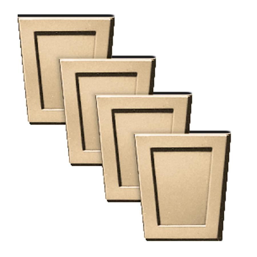 Builders Edge 4-Pack 4-in x 4.5-in Sandstone Maple Polypropylene Gable Vent Keystones