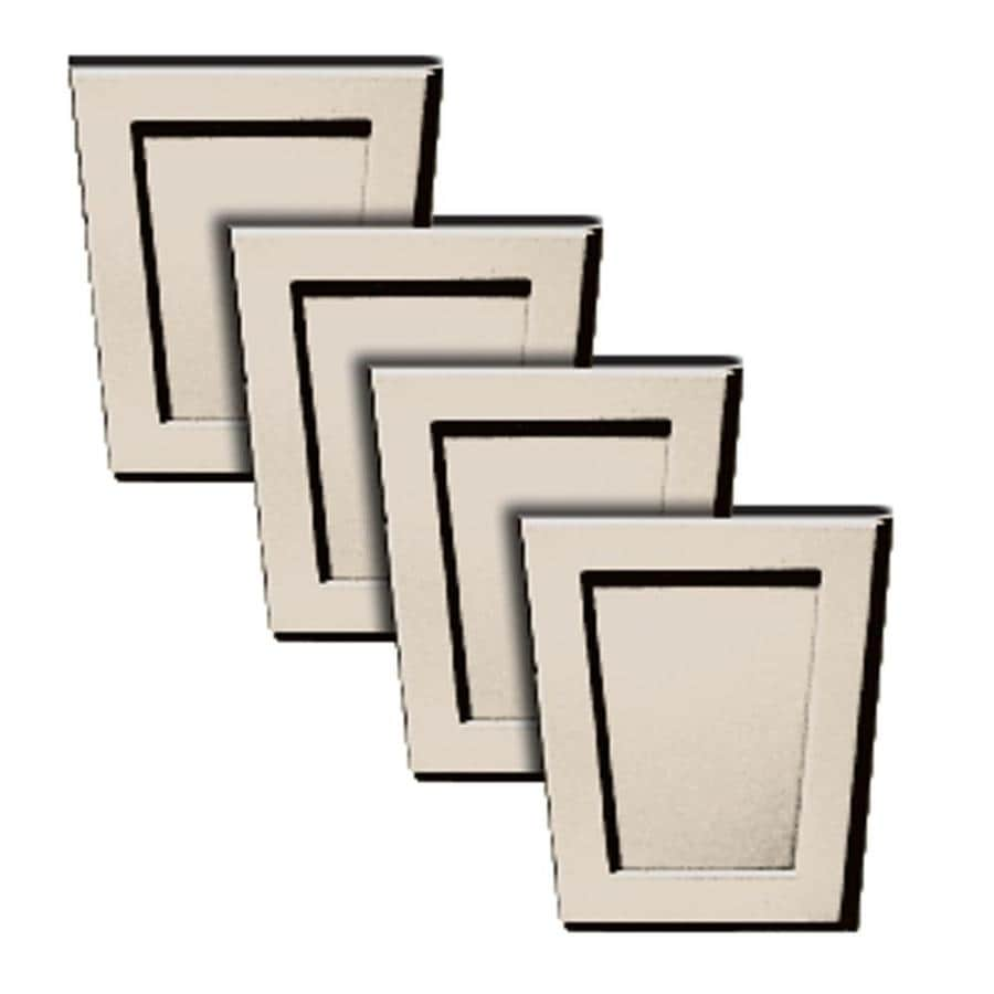 Builders Edge 4-Pack 4-in x 4.5-in Almond Polypropylene Gable Vent Keystones