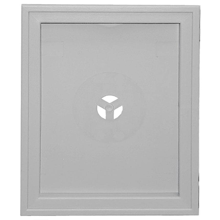 Builders Edge 6.75-in x 8.75-in Gray Vinyl Universal Mounting Block