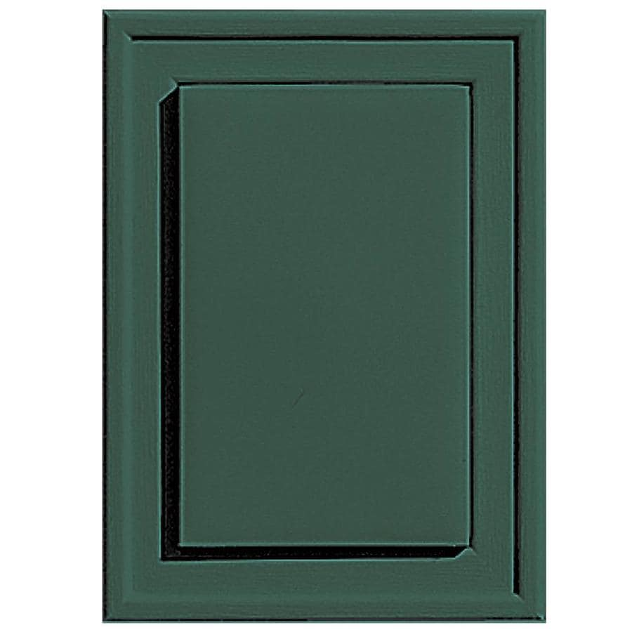 Builders Edge 4.5-in x 6.25-in Forest Green Vinyl Universal Mounting Block