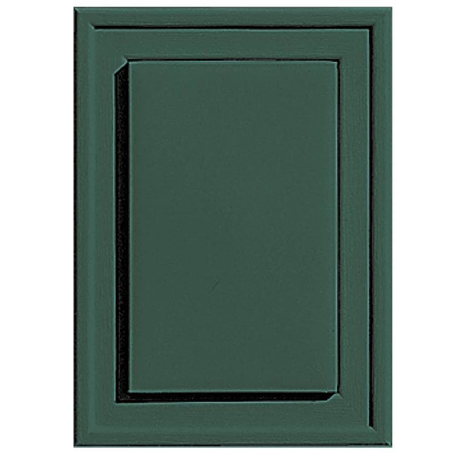 Builders Edge 4.5-in x 6.25-in Forest Green Vinyl Universal Mounting Block