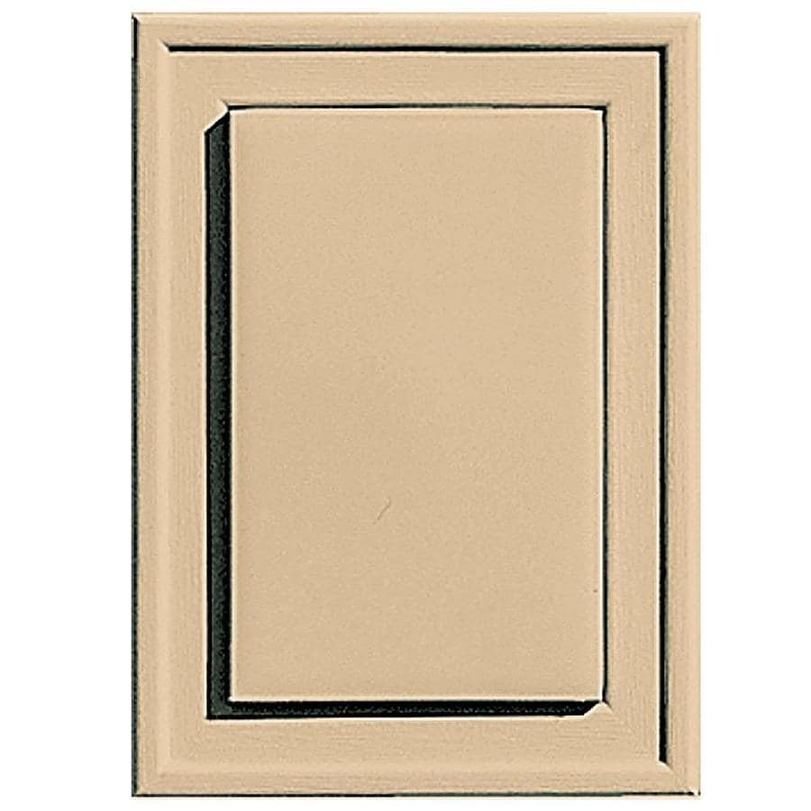 Builders Edge 4.5-in x 6.25-in Sandstone Maple Vinyl Universal Mounting Block