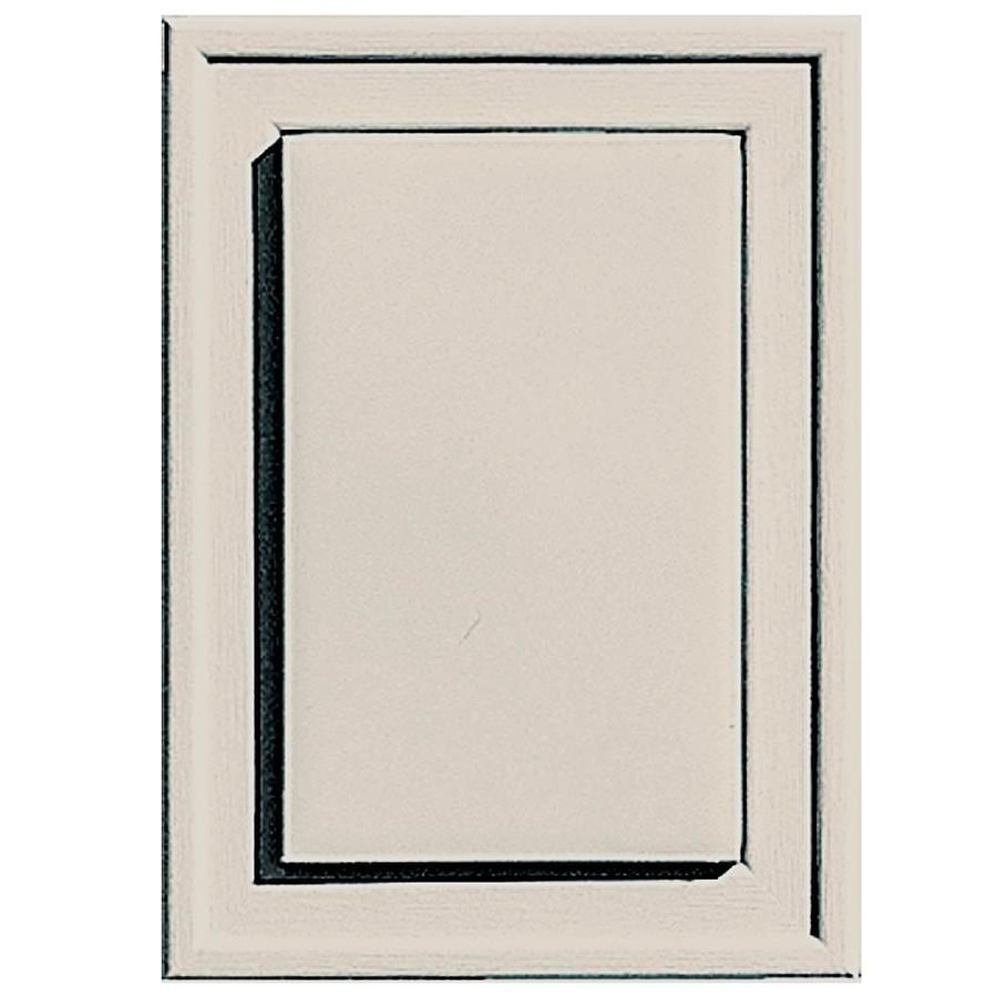Builders Edge 4.5-in x 6.25-in Almond Vinyl Universal Mounting Block