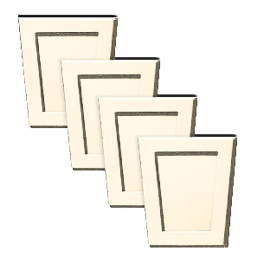 Builders Edge 4-Pack 4-in x 4.5-in Champagne Polypropylene Gable Vent Keystones