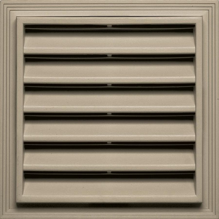 Builders Edge 12-in x 12-in Clay Square Vinyl Gable Vent