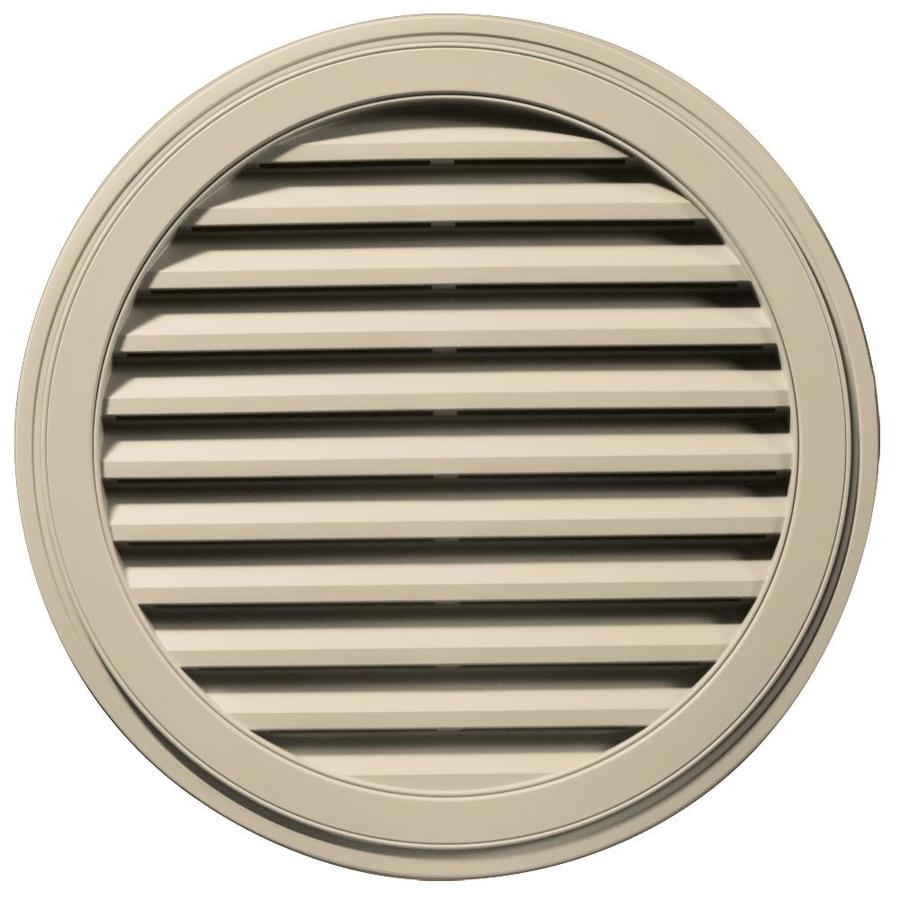 Builders Edge 36-in x 36-in Almond Round Vinyl Gable Vent