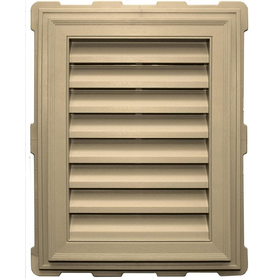 Builders Edge 8-in x 8-in Dark Almond Rectangle Vinyl Gable Vent