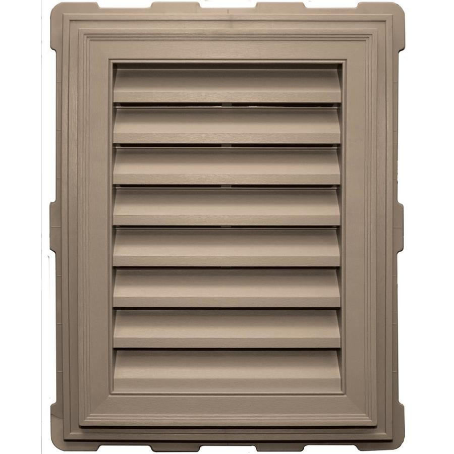 Builders Edge 8-in x 8-in Wicker Rectangle Vinyl Gable Vent