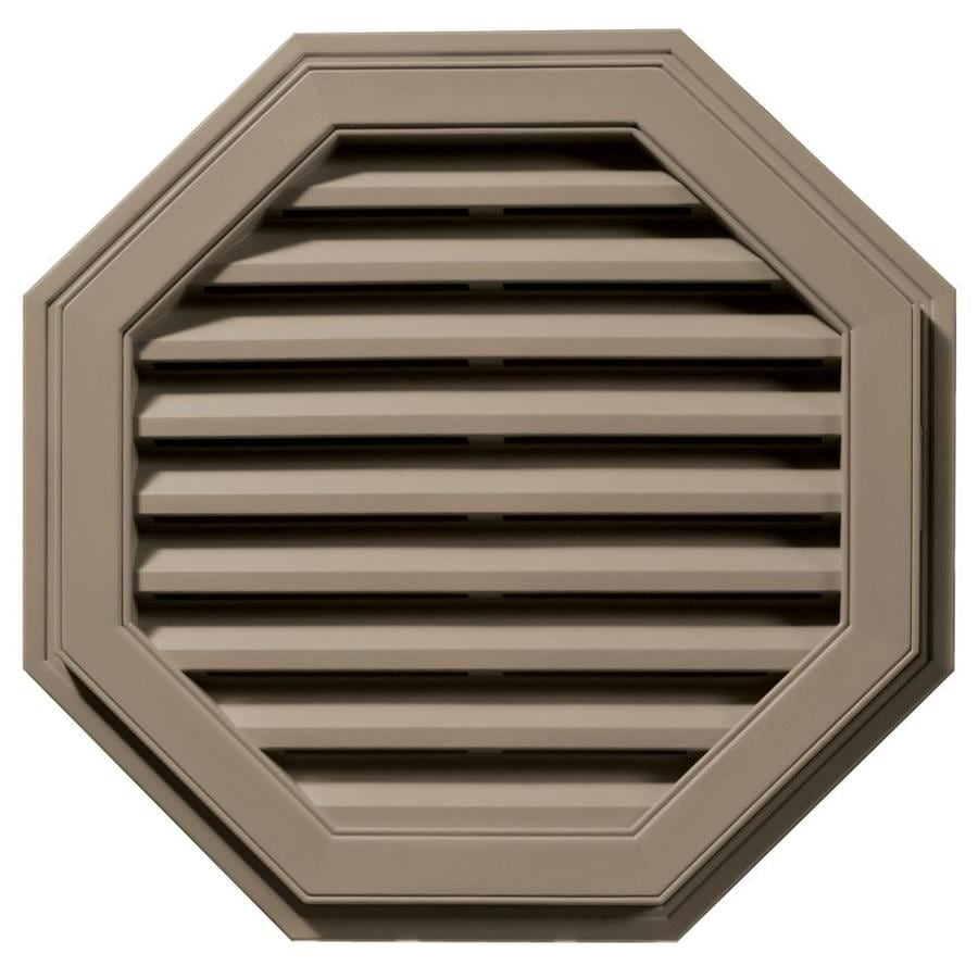 Builders Edge 27-in x 27-in Clay Octagon Vinyl Gable Vent