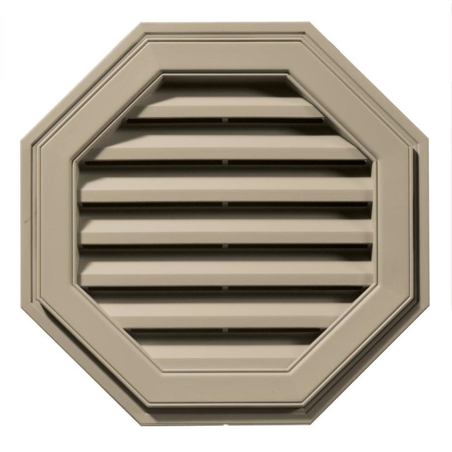 Builders Edge 22-in x 22-in Clay Octagon Vinyl Gable Vent