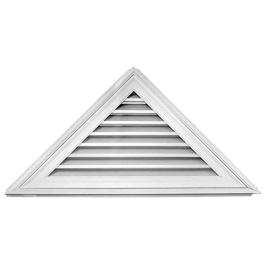 Shop builders edge 56 3 in x 25 8 in white triangle vinyl for Gable decorations home depot