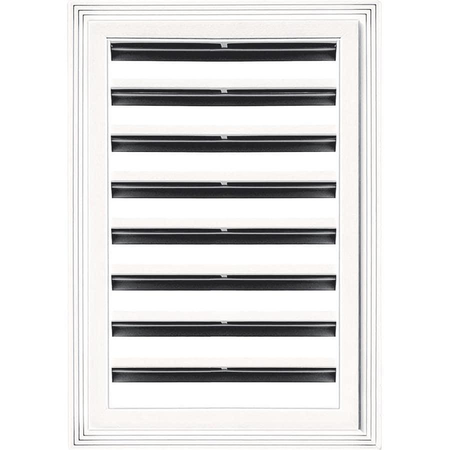 Builders Edge 6-in x 6-in Bright White Rectangle Vinyl Gable Vent