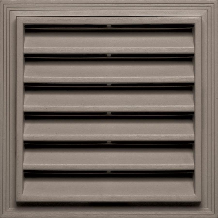 Builders Edge 7-in x 7-in Clay Square Vinyl Gable Vent