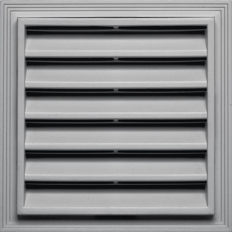 Builders Edge 14.2-in x 14.2-in Gray Square Vinyl Gable Vent