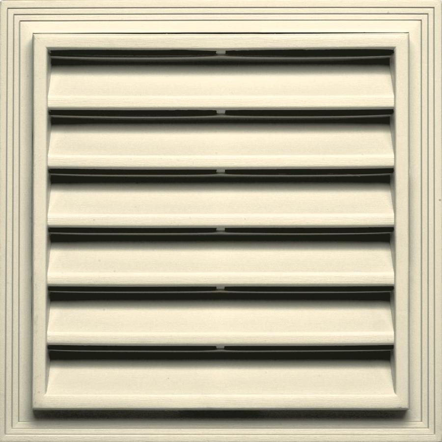 Builders Edge 14.2-in x 14.2-in Heritage Cream Square Vinyl Gable Vent