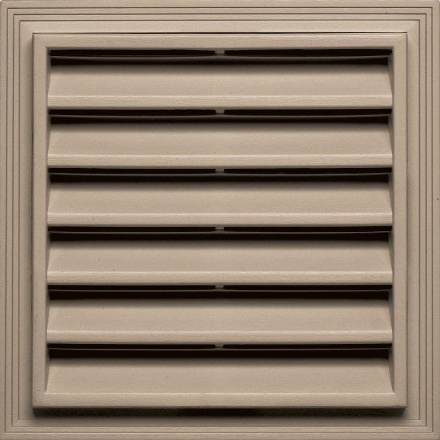 Builders Edge 14.2000-in x 14.2000-in Wicker Square Vinyl Gable Vent