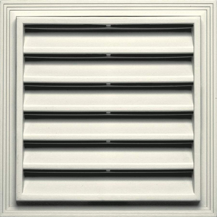 Builders Edge 14.2-in x 14.2-in Parchment Square Vinyl Gable Vent