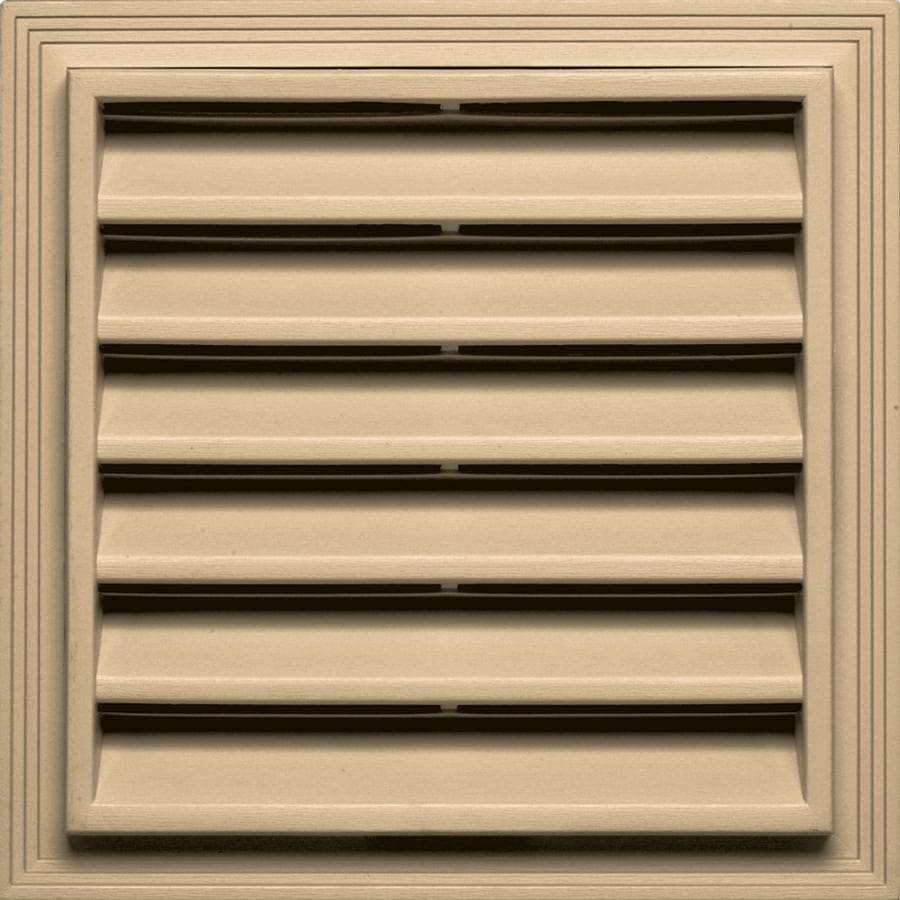 Builders Edge 12-in x 12-in Sandstone Maple Square Vinyl Gable Vent