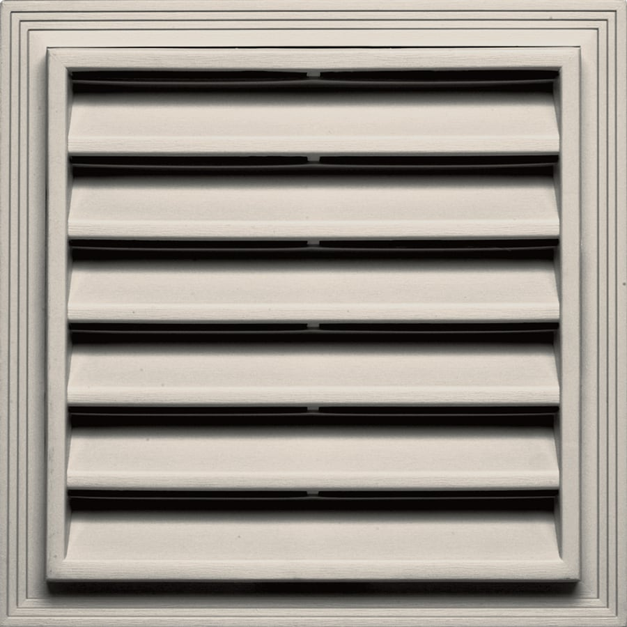 Builders Edge 14.25-in x 14.25-in Almond Square Vinyl Gable Vent