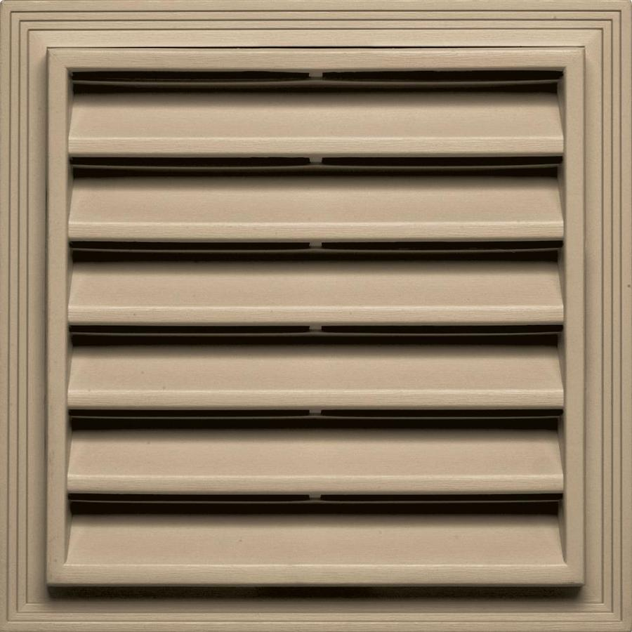 Builders Edge 12-in x 12-in Tan Square Vinyl Gable Vent