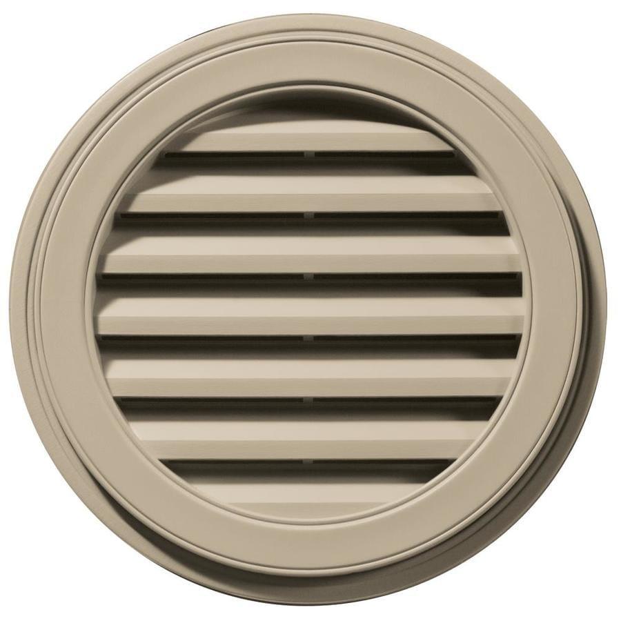 Builders Edge 8-in x 7-in Clay Round Vinyl Gable Vent