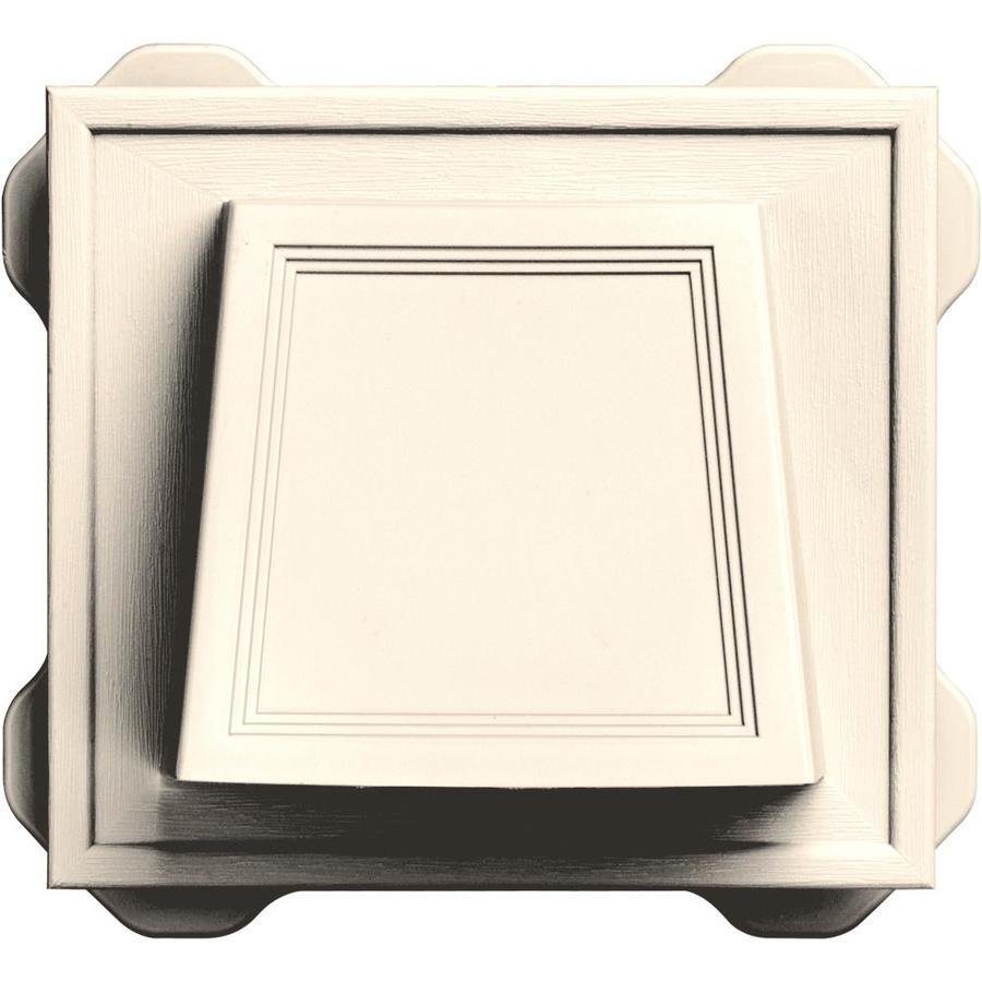 Builders Edge 4-in Plastic Hood Dryer Vent Cap