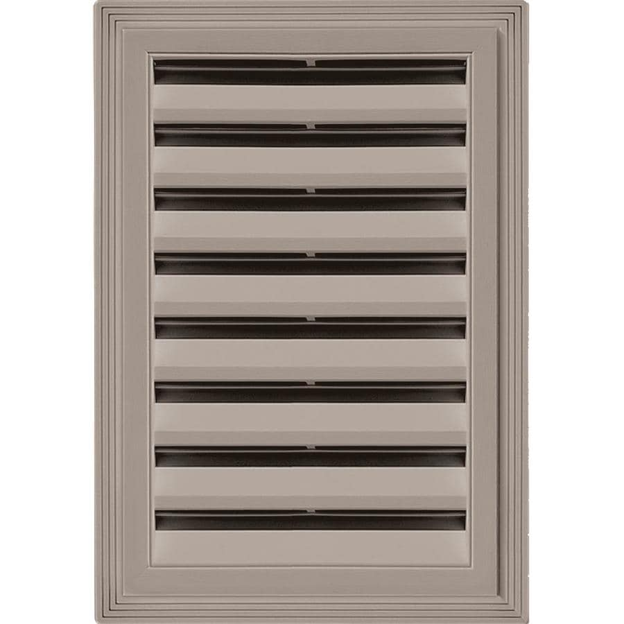 Builders Edge 14-in x 20-in Clay Rectangle Vinyl Gable Vent