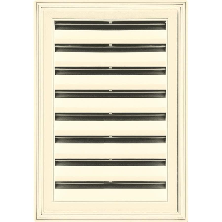 Builders Edge 14-in x 20-in Heritage Cream Rectangle Vinyl Gable Vent