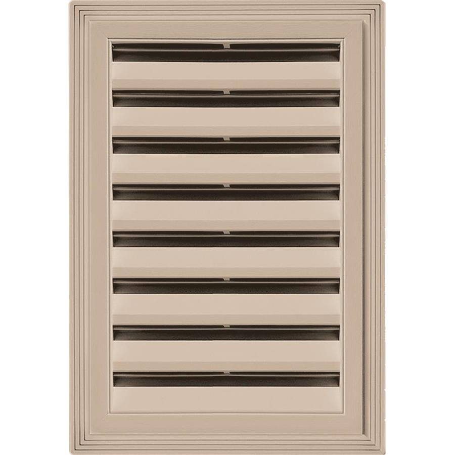 Builders Edge 14-in x 20-in Wicker Rectangle Vinyl Gable Vent