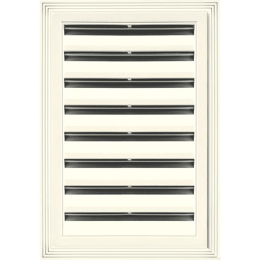 Builders Edge 6-in x 6-in Parchment Rectangle Vinyl Gable Vent