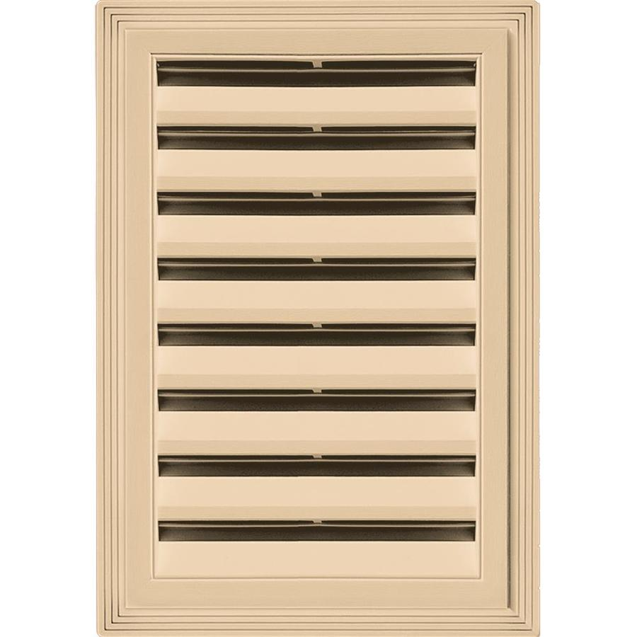 Builders Edge 14-in x 20-in Sandstone Maple Rectangle Vinyl Gable Vent