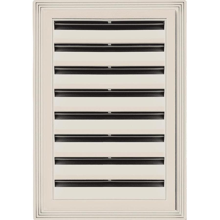 Builders Edge 14-in x 20-in Almond Rectangle Vinyl Gable Vent