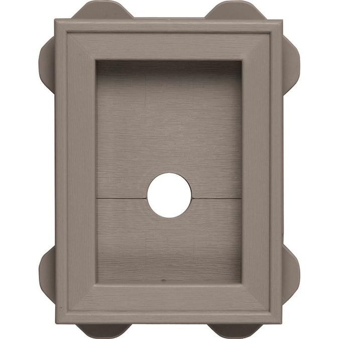 Builders Edge 5 In X 6 75 In Clay Vinyl Universal Mounting Block In The Mounting Blocks Department At Lowes Com