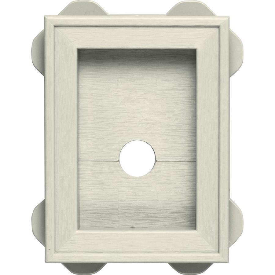 Builders Edge 5-in x 6.75-in Linen Vinyl Universal Mounting Block