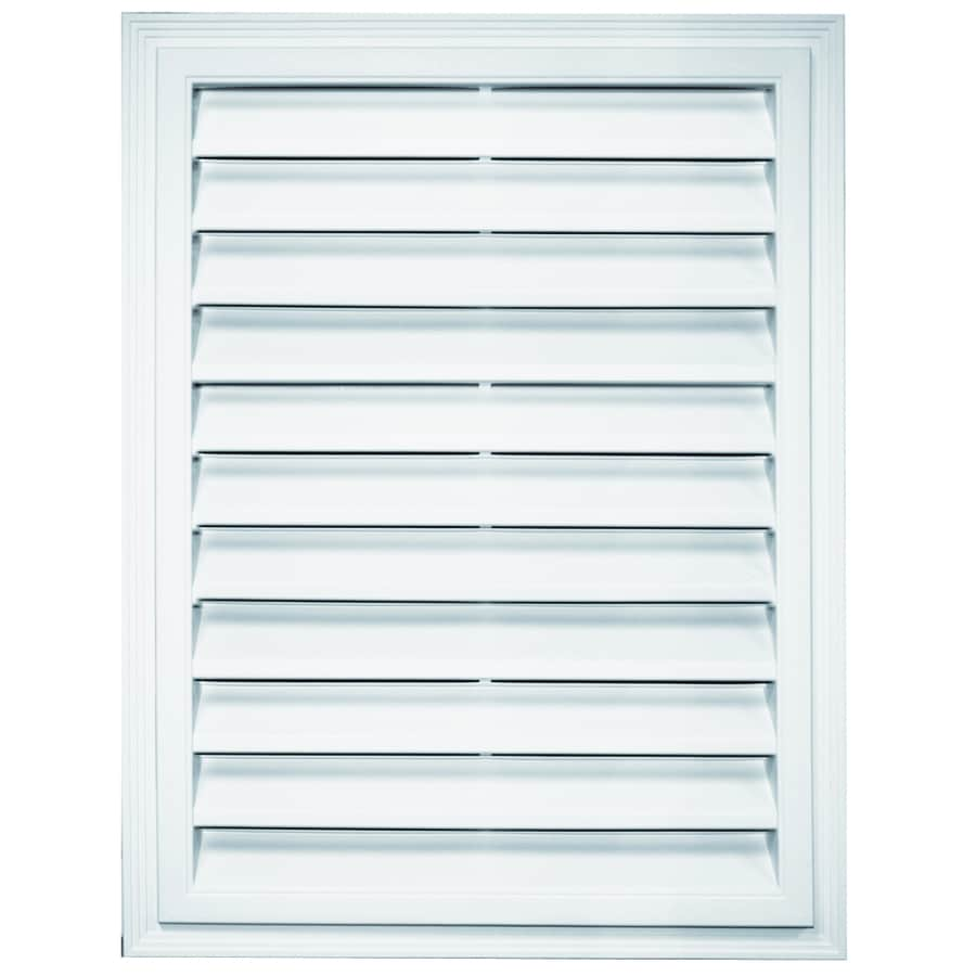 Builders Edge 26-in x 20.25-in Bright White Rectangle Vinyl Gable Vent