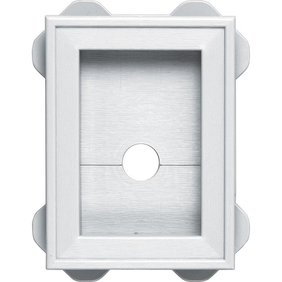 Builders Edge 5-in x 6.75-in White Vinyl Universal Mounting Block