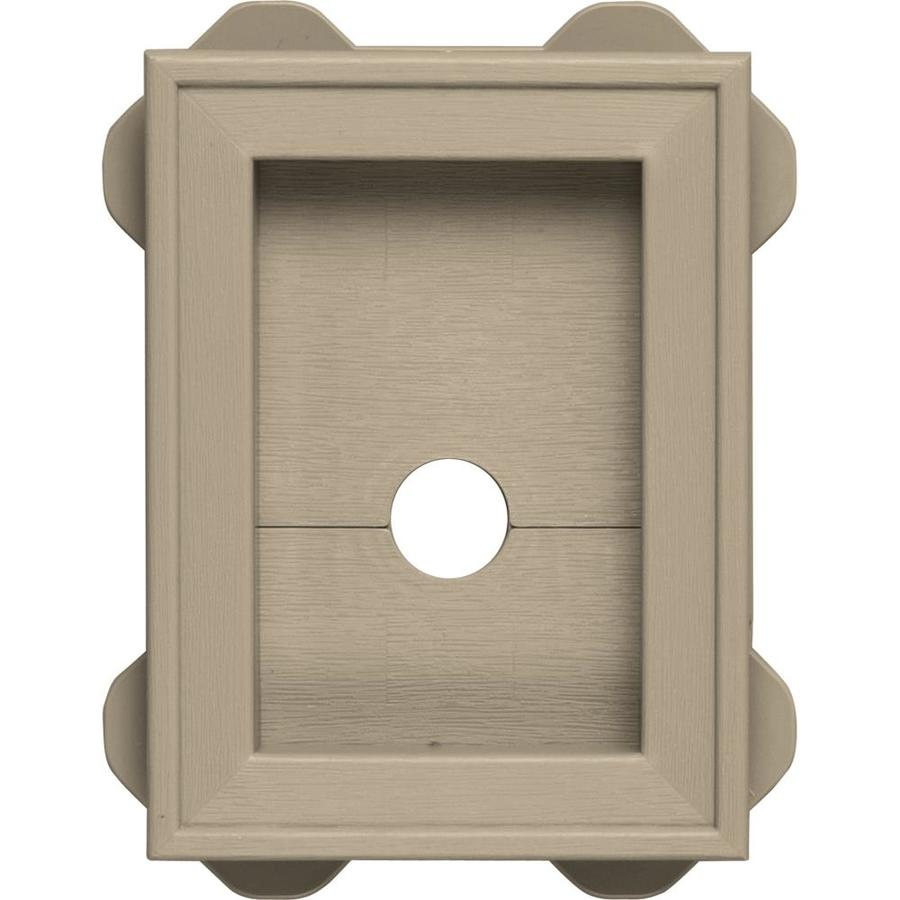 Builders Edge 5-in x 6.75-in Clay Vinyl Universal Mounting Block