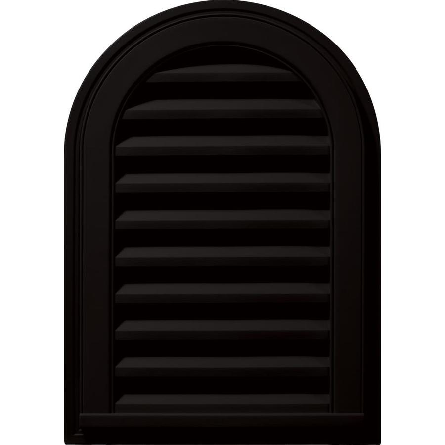 Builders Edge 16-in x 24-in Black Round Top Vinyl Gable Vent